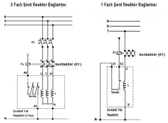 Şönt Reaktör Bağlantı Şemaları