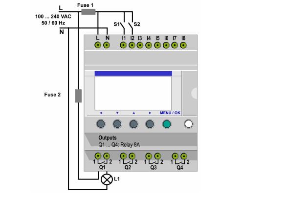 Zelio PLC bağlantı