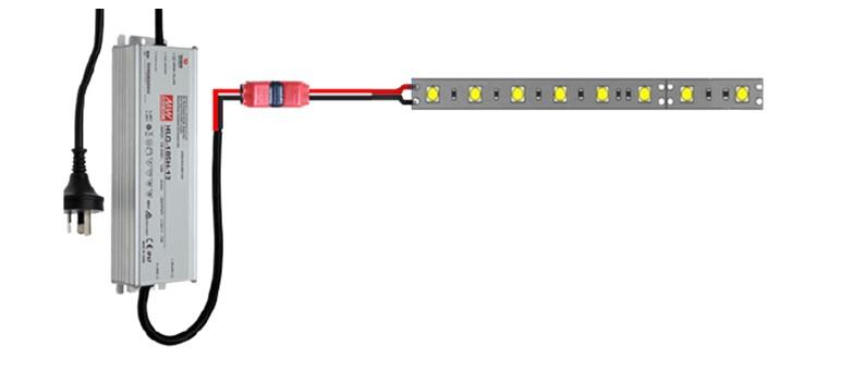 LED şerit ışığına güç sağlamak