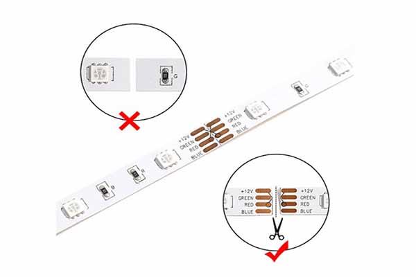 LED şerit ışığını kesmek